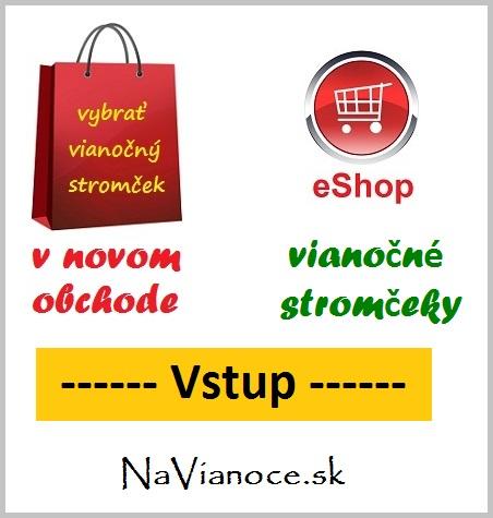 predaj vianoиnэch stromиekov, vstup do internetovйho obchodu